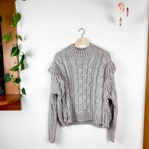Universal Thread Cable Knit Long Sleeve Sweater L